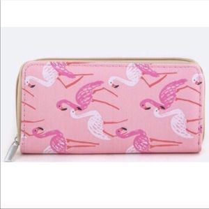💕Pink Flamingo wallet zip